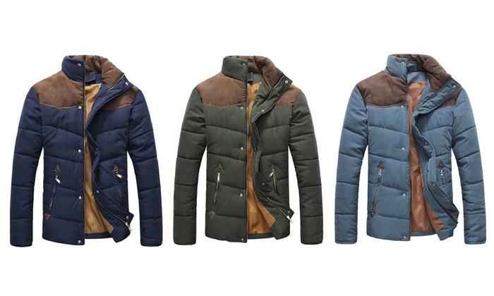 Men's Contrast Shoulder Padded Jacket From £22.99