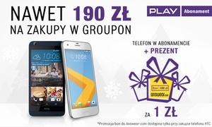 Play: Nawet 190 zł na zakupy na portalu Groupon.pl przy podpisaniu umowy w formule SOLO i zakupie grouponu za 5 zł