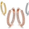 Cubic Zirconia Inside-Out Pave Hoop Earrings By Tori Hamilton