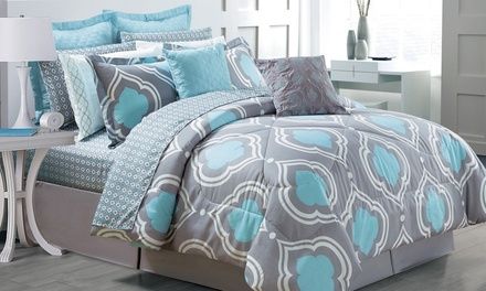 Printed Comforter Set (14-Piece)