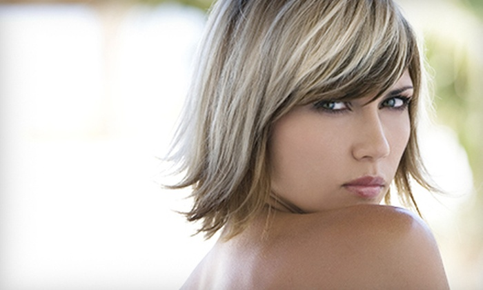 Victor Henson at Dharma Salon and Spa. - Southeast Springfield: Haircut Package with Optional All-Over Color or Highlights from Victor Henson at Dharma Salon and Spa (Up to 56% Off)