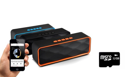1 o 2 speaker stereo wireless disponibili in 4 colori e con o senza scheda Micro SD da 32GB