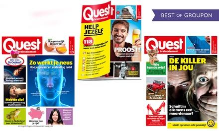 6 of 12 nummers Quest Magazine, het abonnement stopt automatisch
