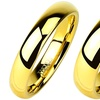 Men's Gold Plated Traditional Wedding Bands