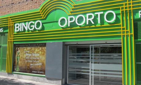Menú, copas y acceso a bingo, en Bingo Oporto para dos, cuatro o seis personas desde 19,95 €
