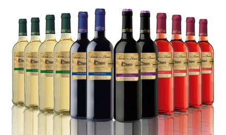 12 Bottles of Spanish Red, White, Rose or Mixed Wine for £44.99 With Free Delivery (55% Off)