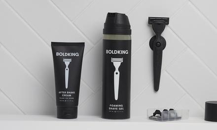 Boldking: scheerpakket naar keuze met scheermesjes + extra's of boxershorts