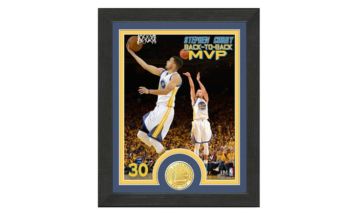 NBA Stephen Curry Back to Back MVP Single Coin Photo Mint