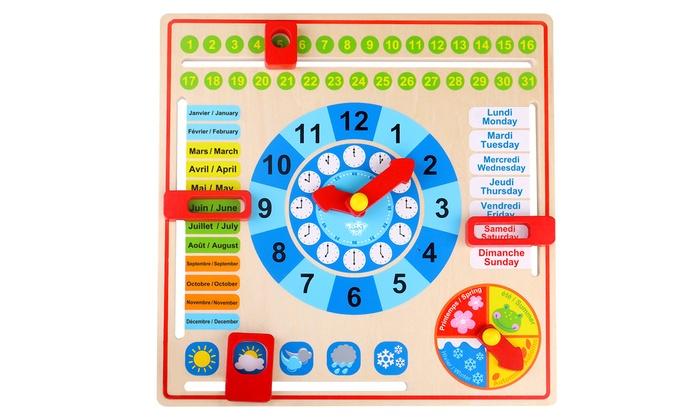 Groupon Calendario.Toytopia Tooky Toys Fsc Wooden Bilingual Calendar