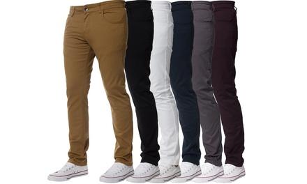 Kruze Jeans Mens Skinny Chinos