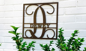 Up to 62% Off Rustic Metal Family-Name Signs at Metal Unlimited, plus 6.0% Cash Back from Ebates.