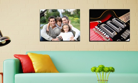 "groupon daily deal - 16""x20"" Custom Gallery-Wrapped Canvas for $26.99 from Picture It On Canvas"
