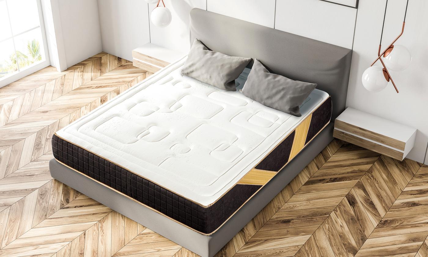 Matelas Diagonal à mémoire de forme aérée, 5 zones de confort avec sommier en option