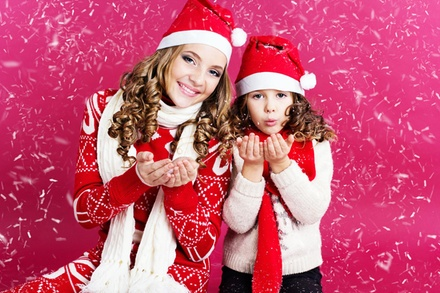 Christmas Makeover Photoshoot with Christmas Cards at Galerie Studios
