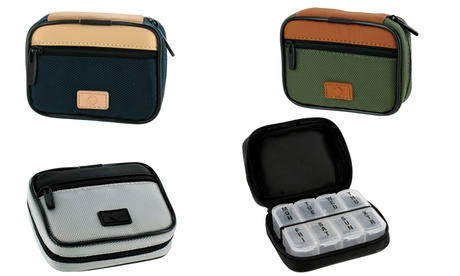 Classic Style Men's Zippered Pill and Vitamin Travel Case c1e8d062-e3f6-11e6-bd55-00259069d868