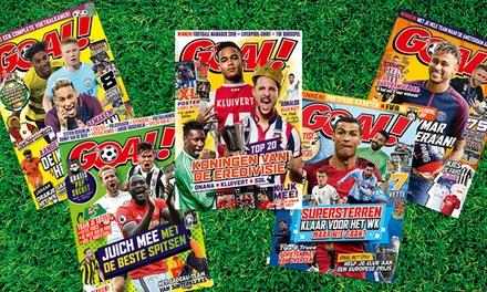 Krijg 6 of 12 nummers van voetbalmagazine GOAL! in huis, abonnement stopt automatisch