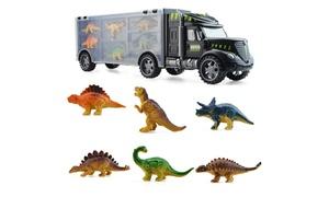 Camion transporteur 6 dinosaures