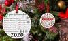 Round 2020 Christmas Ornament