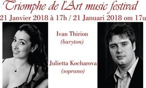International Music Competition Triomph De L Art: Toegang voor opera concert van de Belgische bariton Ivan Thirion en soprano Julietta Kocharova in Brussel vanaf €7,50