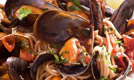 Menu di pesce completo da 4 portate con bottiglia di vino al ristorante O Top One (sconto fino a 63%)