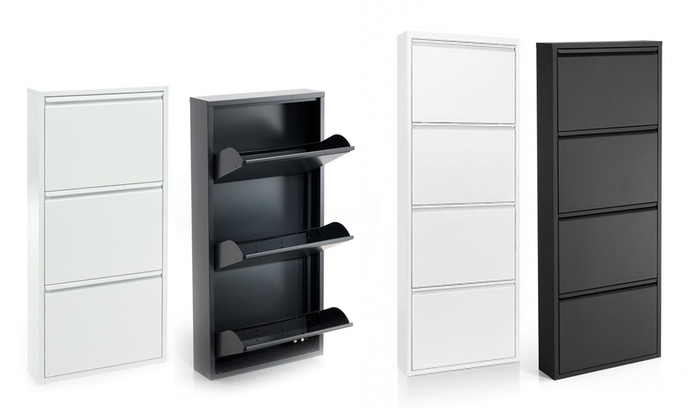One-, Three- or Four-Door Vertical Shoe Rack from £32.99