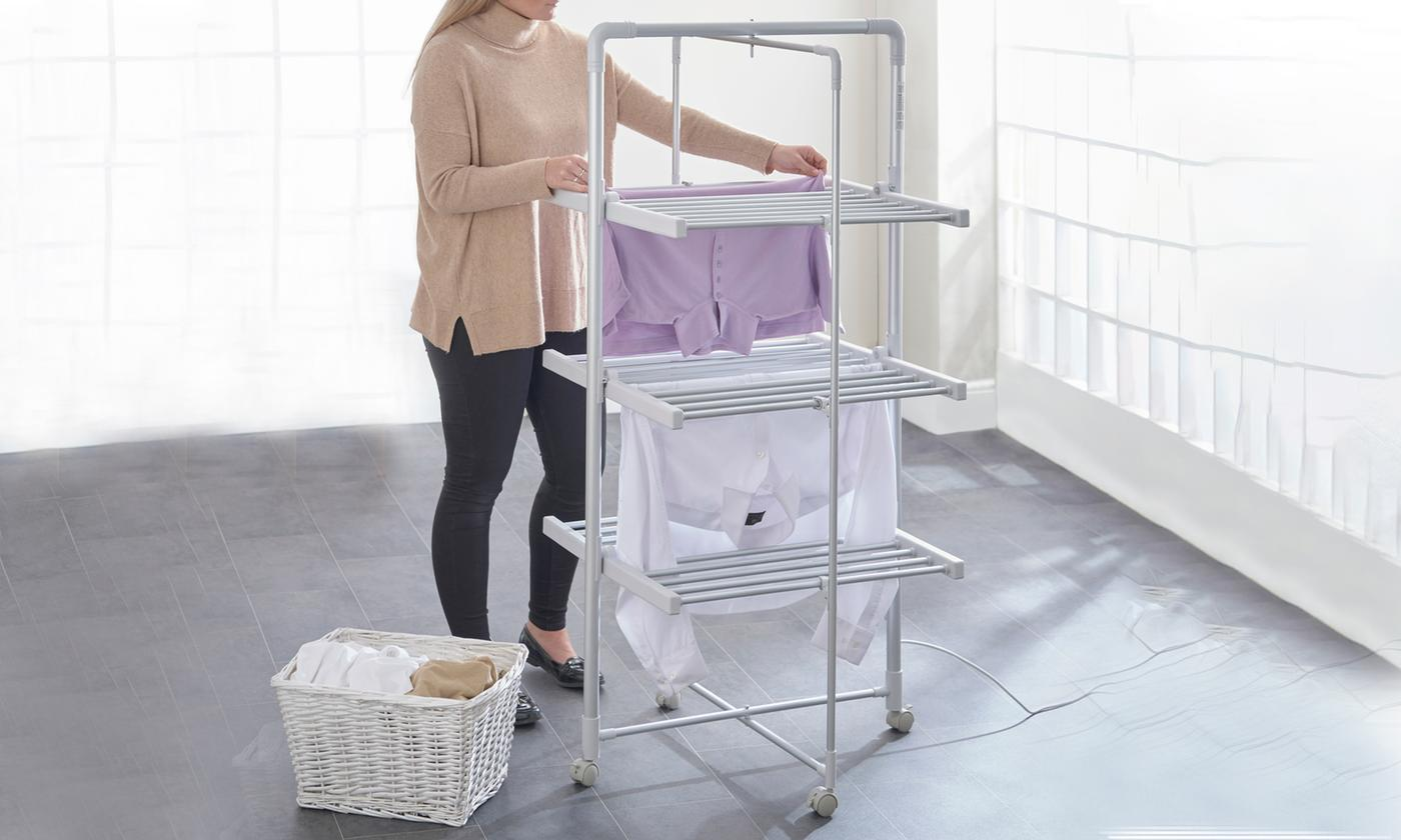 EasyDry Three-Tier Foldaway Heated Airer With Free Delivery