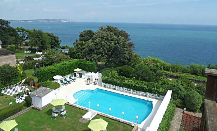 Isle of Wight: 1, 2 or 3 Nights for Two with Breakfast, 3-Course Dinner, Ferry and Leisure Access at Luccombe Hall Hotel