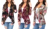 Women's Floral Crush Velvet Cardigan