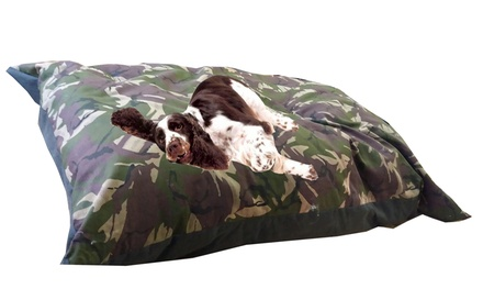 Kosipet Jumbo Green Camouflage Dog Cushion