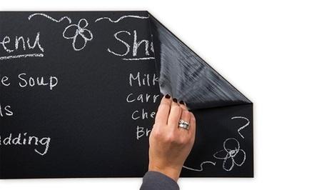 Jade and Juliet Chalkboard Wall Sticker with 5-Piece Chalk Set