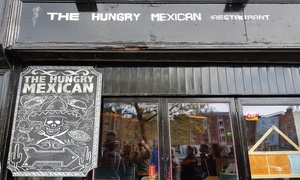 The Hungry Mexican: Burrito with a Soft Drink for One or Two at The Hungry Mexican (Up to 51% Off)