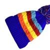 Double Layer Fleece Lined Kids Beanie Hat with Pom Pom