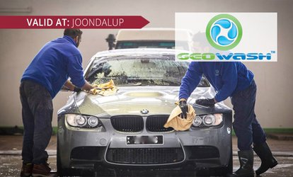 Car Clean - Exterior ($15) Exterior and Interior ($25) or Steam Clean ($109) at Geowash Joondalup (Up to $179 Value)