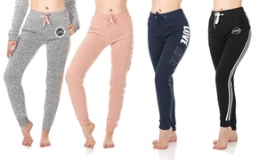 Women's Soft and Comfy Fleece Jogger Sweatpants