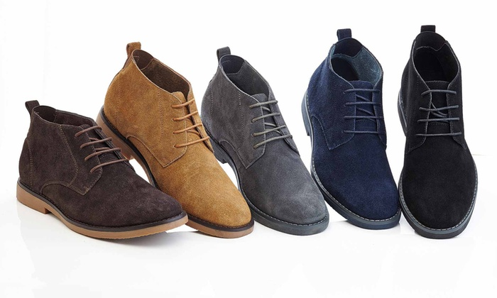 Adolfo Morris Men's Leather Chukka Boots