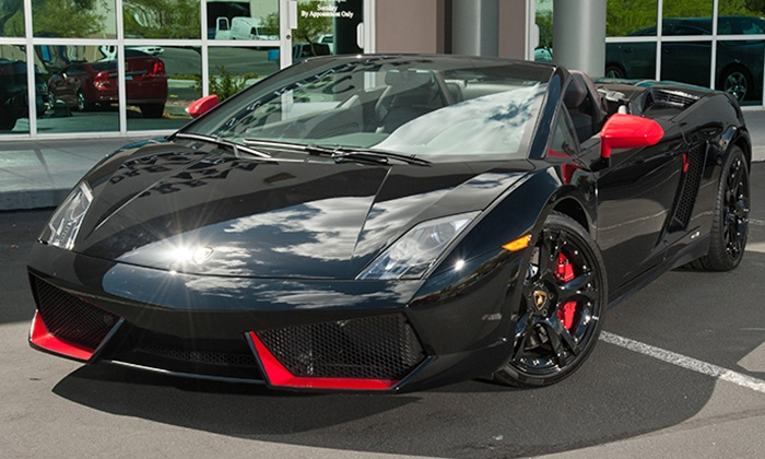 Dream Cars Las Vegas - Paradise: Driving Experience for One or Two in a Ferrari Spyder or Lamborghini Spyder at Dream Cars Las Vegas (50% Off)