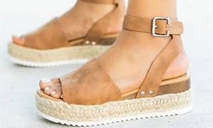 Sandales espadrille à plateforme