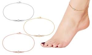 Bracelet cheville cristaux