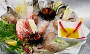 Ristorante La Prua: Menu gourmet vista mare con ostriche e crudi di pesce, bottiglia di vino al Ristorante La Prua (sconto fino a 65%)