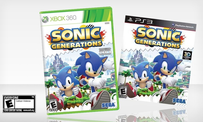 Sonic Generations for Xbox 360 or PS3: Sonic Generations for Xbox 360 or PS3. Free Returns.