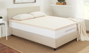 "Sleep Studio CopperFresh 3"" Gel Memory-Foam Mattress Topper"