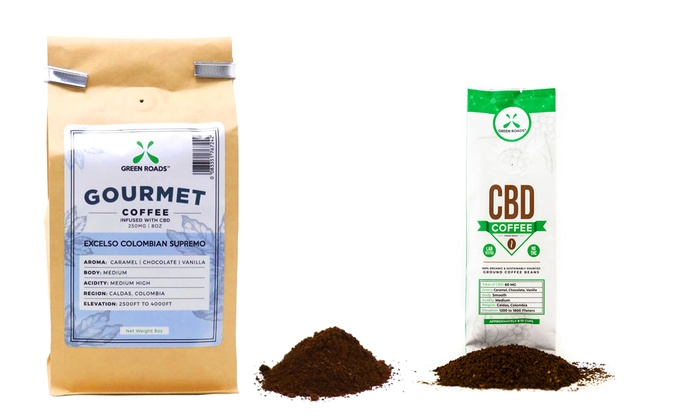 Up To 56% Off on CBD Ground Coffee Beans | Groupon Goods