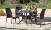 Bessemer Outdoor Cast Aluminum Wicker Dining Set (5-Piece): Bessemer Outdoor Cast Aluminum Wicker Dining Set (5-Piece)