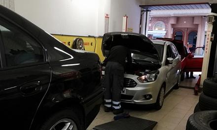 Cambio de aceite y filtro con revisión pre-ITV y servicio adicional opcional desde 34,95 € en Neumáticos San José