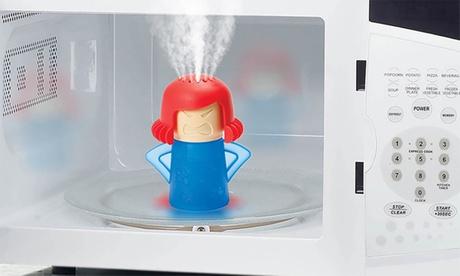 Hasta 6 accesorios de plástico para la limpieza de microondas y horno