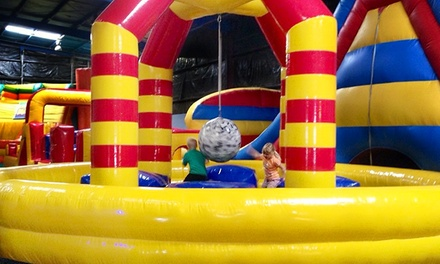 Bounce Package for 4 or $50 Toward Open Bounce Passes or a Birthday Party at Bounceeez (Up to 69% Off)