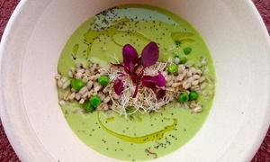 Art Cibo & Cafè: Menu vegetariano alla carta di 4 portate e calice di vino per 2 o 4 persone all'Art Cibò & Cafè (sconto fino a 52%)