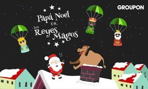 Papá Noel Vs. Reyes Magos: Elige por 0€ a tu favorito entre los Reyes Magos y Papá Noel y entra en el sorteo de 1.000€, 1 sesión de spa y 1 cena