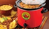 Nostalgia Fiesta Series 4-Quart Chili and Nacho Cheese Fiesta Pot