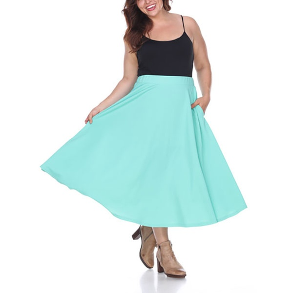 3f83be45b4 Women's Plus Size Tasmin Flare Midi Skirt   Groupon